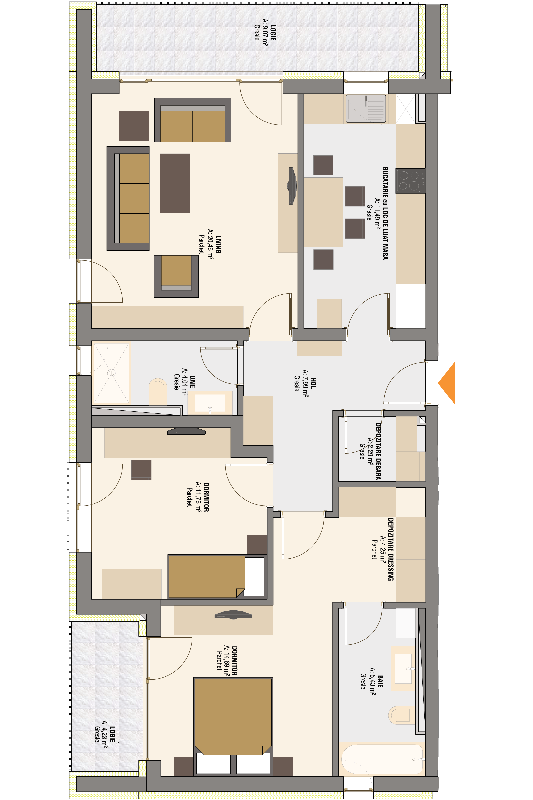 Plan Apartament 3 camere 8240 m2